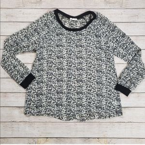 Pleione Sheet Leopard Blouse